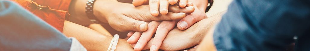A group of hands